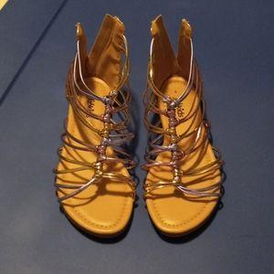 Fabkids metalic gladiator sandals